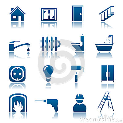 House repair icon set