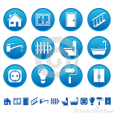 Free House Repair Icons Royalty Free Stock Images - 28949559