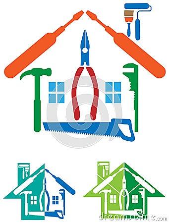 Free House Repair Logo Royalty Free Stock Photos - 43822238