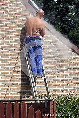 House repair man at work