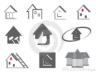 House and repair symbols