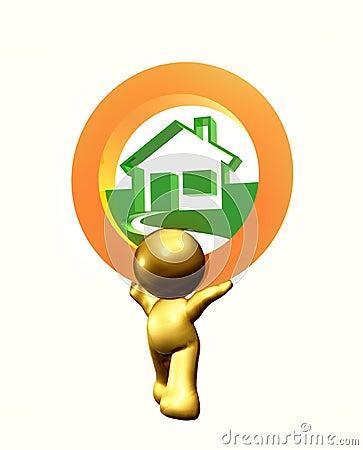 House resort icon symbol