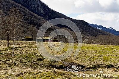 House in rural landscape