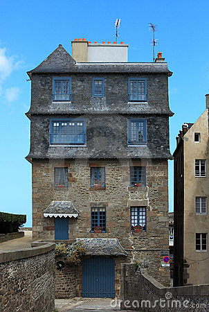 House in Saint Malo Editorial Stock Photo