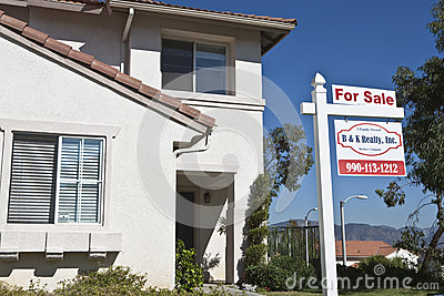 House With  For Sale  Sign Editorial Stock Photo
