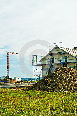 House with scaffold