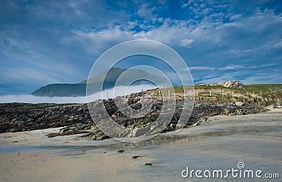 House by the sea and mountain, Connemara, Ireland