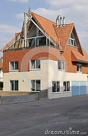 House on seafront. Wimereux. France