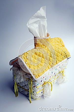 House shape tissue dispenser