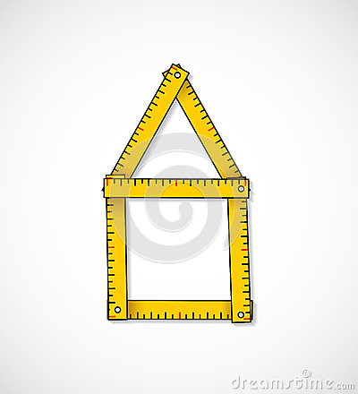 House shaped measuring tape
