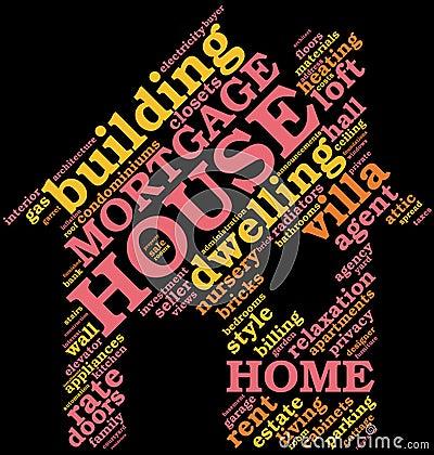 House - shaped tag cloud , home symbol