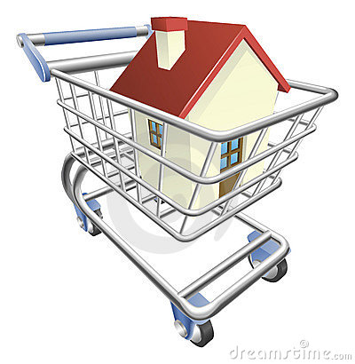 House shopping cart concept