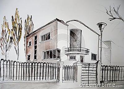 House sketch 5