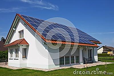 House, solar panel