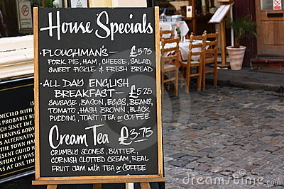House Specials Menu Board