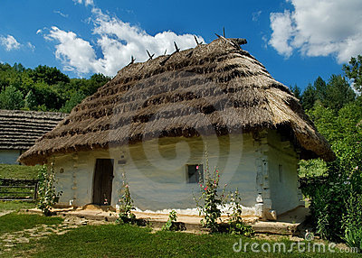 The house with a straw roof