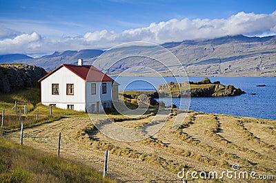 House at the Stöðvarfjörður, Iceland