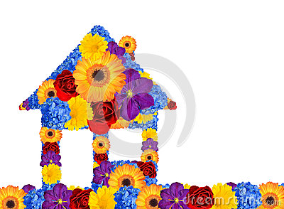 House symbol from flowers