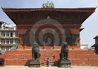 House Temple - Durbar Square - Kathmandu - Nepal Editorial Photo