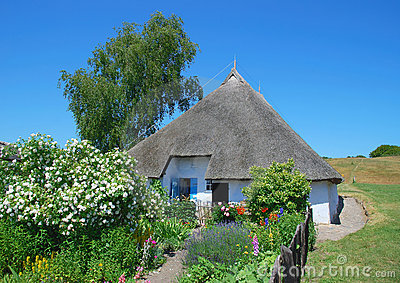 House with thatched roof,Ruegen Island