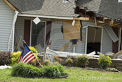 House with Tornado Damage