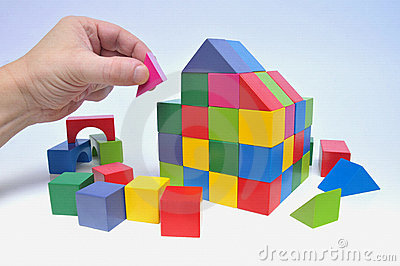 House with toy bricks