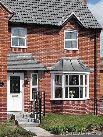 House uk red brick new build home