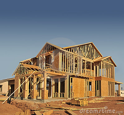 Free House Under Construction Stock Photography - 5460242