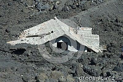 House under landslide