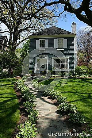 House under a tree in Oak Park