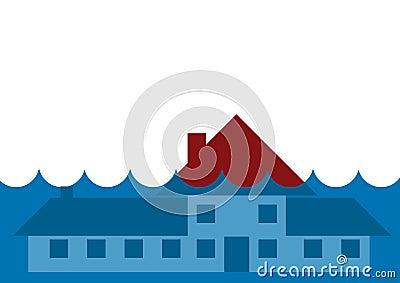 House underwater flood