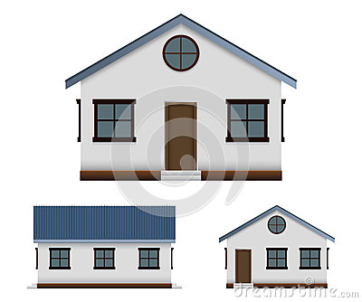 House  Vector Image Set In Three Point Of View  Stock Image