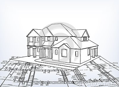 Fantastic House 3D Technical Draw Stock Photo Image 7306920 Largest Home Design Picture Inspirations Pitcheantrous