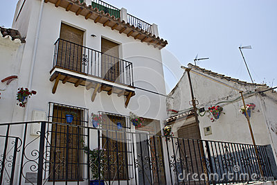 House in white andalusian village