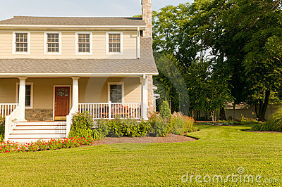 House with white porch