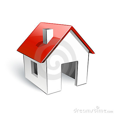 Free House With Red Roof Stock Images - 15693024