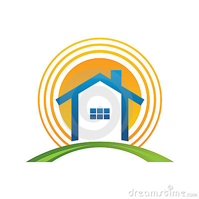Free House With Sun Royalty Free Stock Photo - 19492395