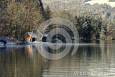 House by Wolfgangsee lake