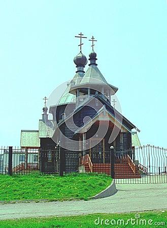 House of worship from Yuzhno-Kurilsk, is. Kunashir
