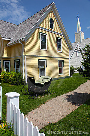 House with Yellow Siding