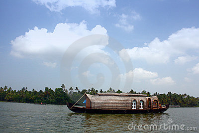 Houseboat on Kerala Backwaters at Kumarakom