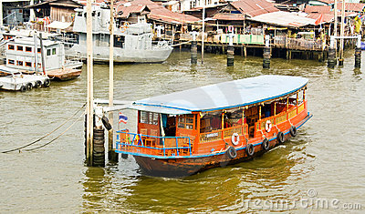 Houseboat in Thailand