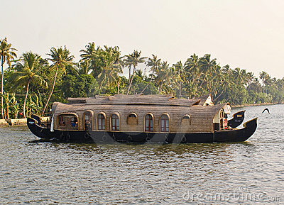 Houseboats on the back waters