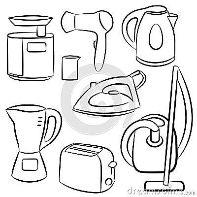 Household appliances.