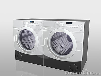 Household appliances, washer and drier.