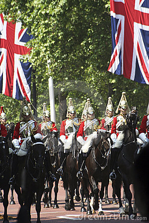 Household Cavalry Editorial Stock Photo