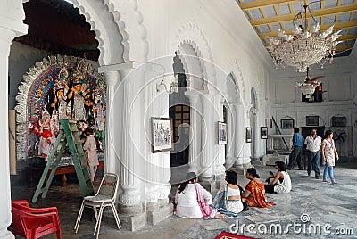 Household Durga Festival of Kolkata Editorial Stock Photo