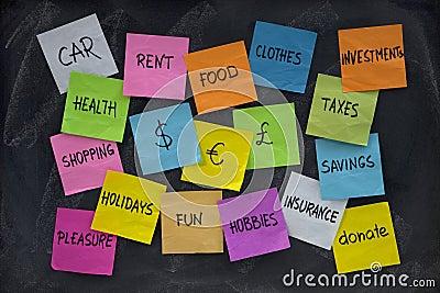 Household finance concept