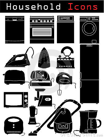 Free Household Icons Royalty Free Stock Photos - 11231088