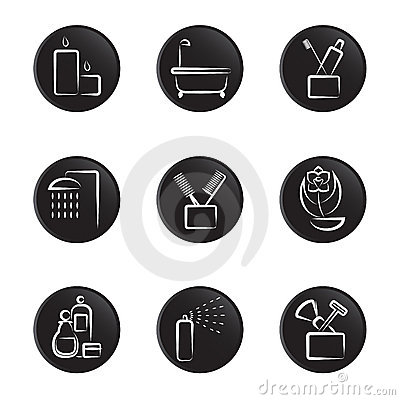 Household object icon set